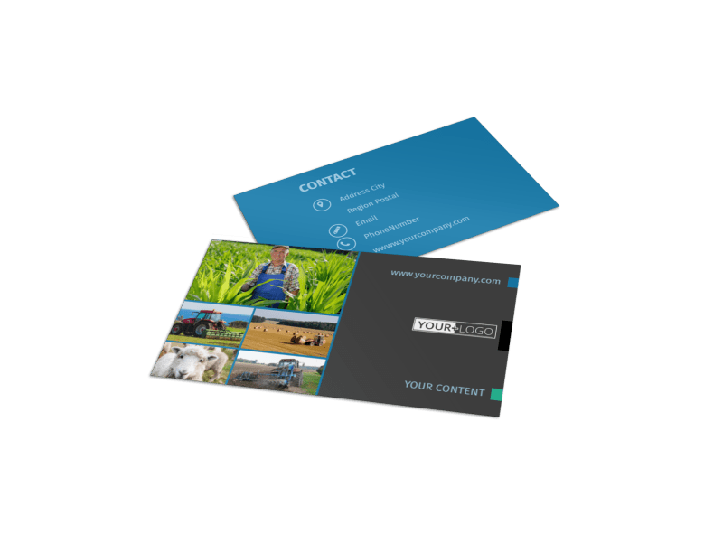 Farm Management Business Card Template Preview 1