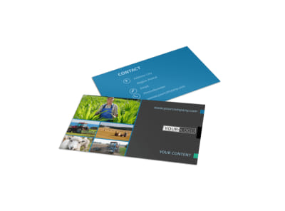 Farm Management Business Card Template preview