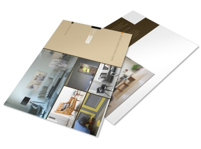Painter & Painting Contractor Postcard Template preview