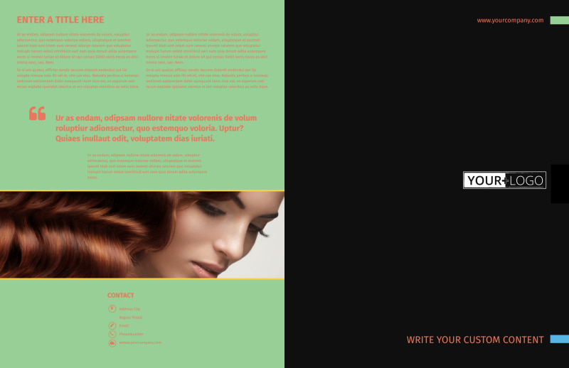 Hair Salon & Spa Brochure Template Preview 2