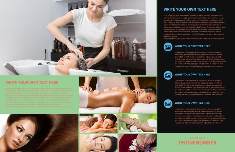 Hair Salon & Spa Brochure Template Preview 3