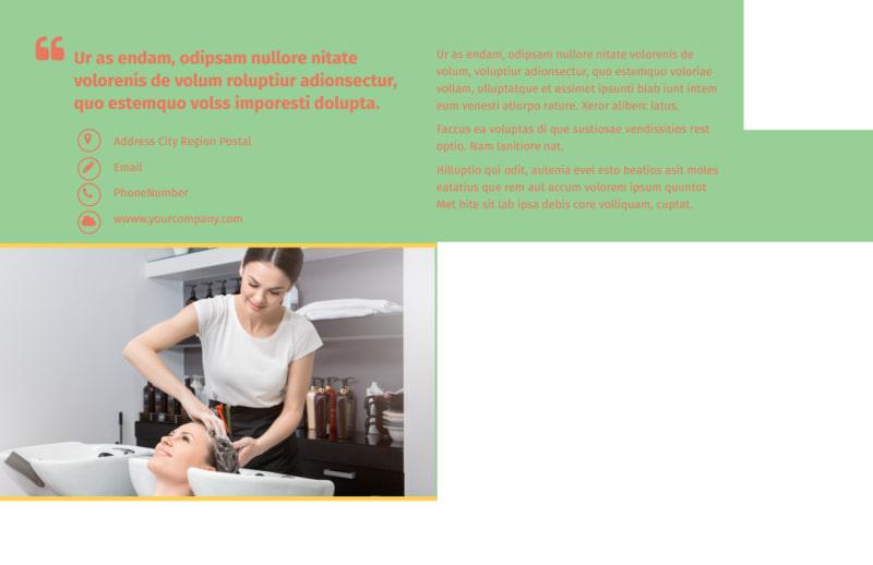 Hair Salon & Spa Postcard Template Preview 3