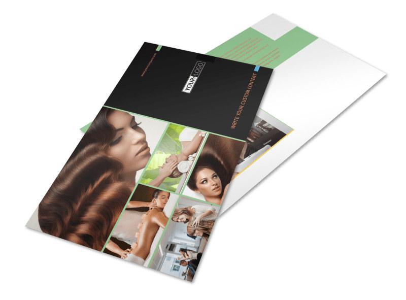 Hair Salon & Spa Postcard Template Preview 4