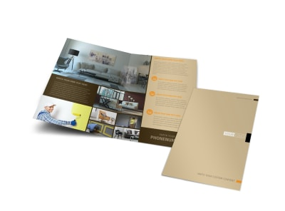 Painter & Painting Contractor Bi-Fold Brochure Template preview