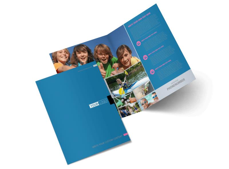 Summer Camp Bi-Fold Brochure Template 2