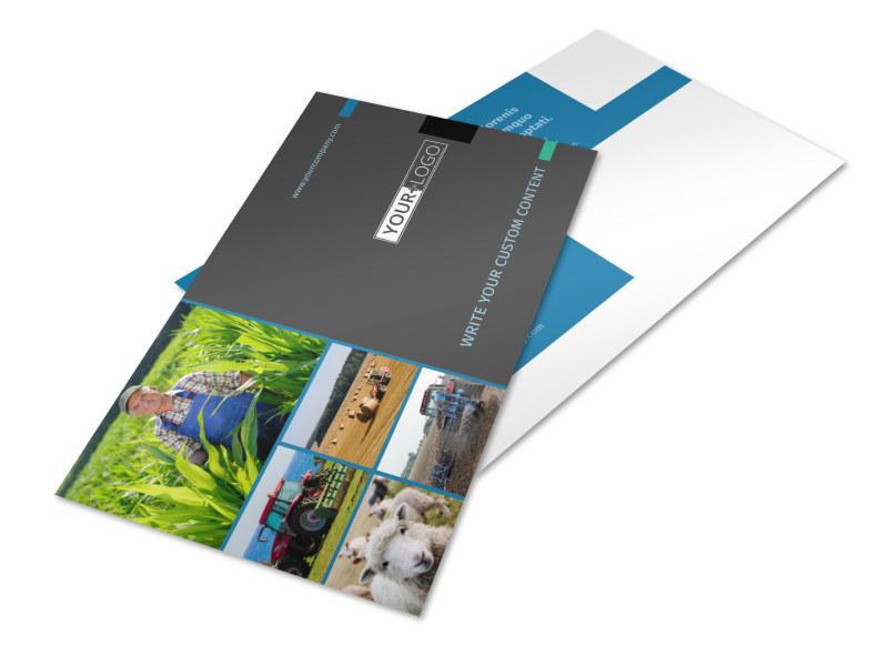 Farm Management Postcard Template Preview 4