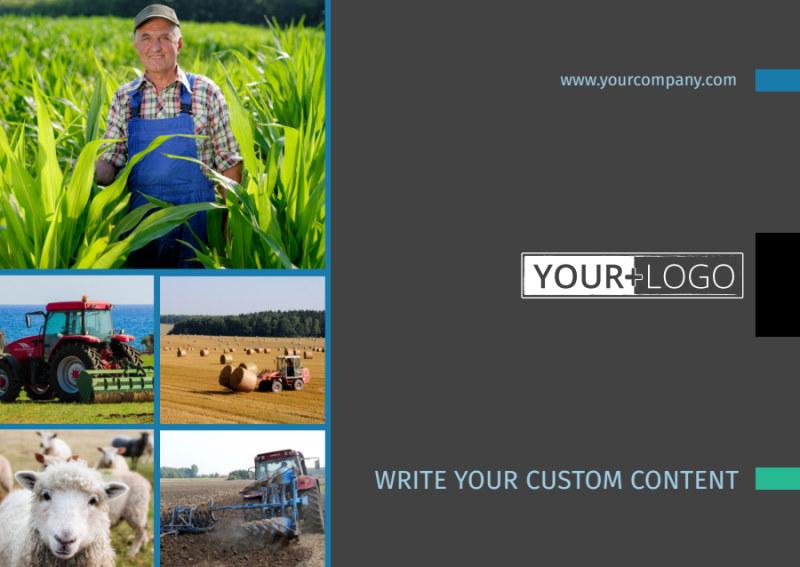 Farm Management Postcard Template Preview 2