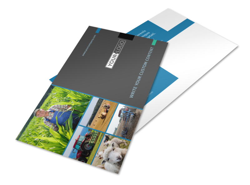 Farm Management Postcard Template Preview 1