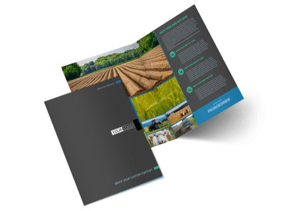 Farm Management Bi-Fold Brochure Template 2