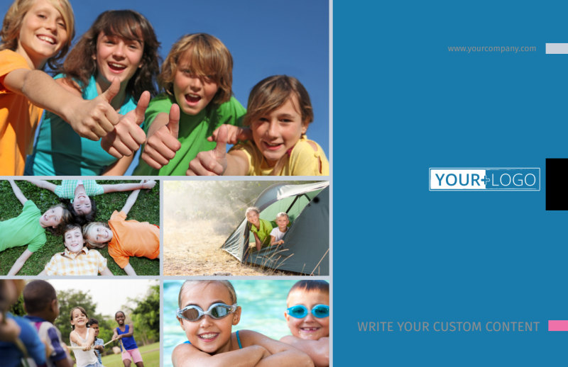 Summer Camp Postcard Template Preview 2