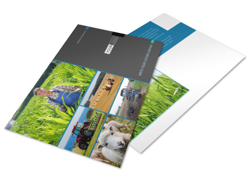Farm Management Postcard Template