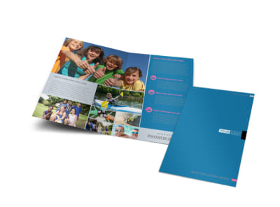 Summer Camp Bi-Fold Brochure Template preview