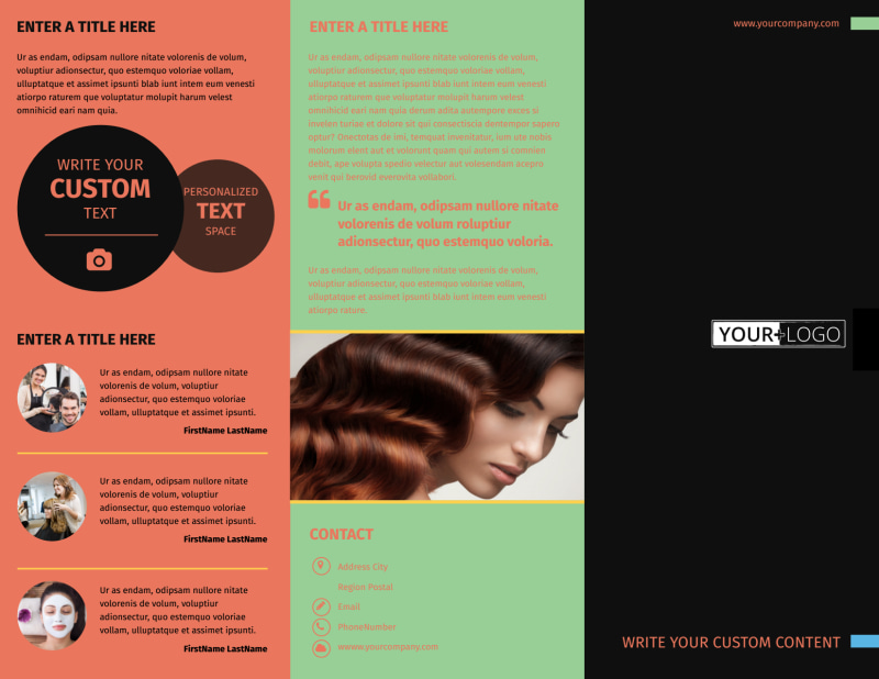 Hair Salon & Spa Brochure Template Preview 2