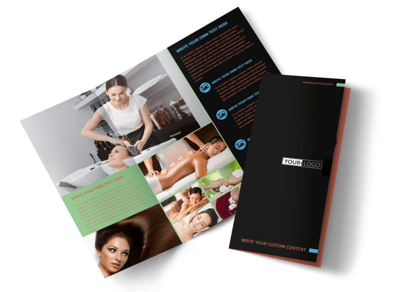 Hair Salon & Spa Brochure Template Preview 4