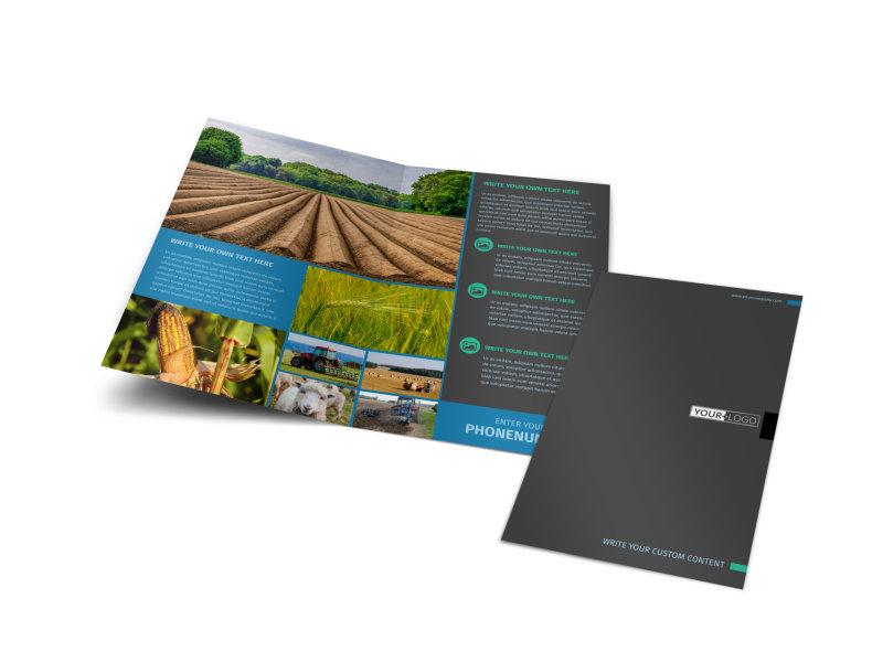 Farm Management Bi-Fold Brochure Template