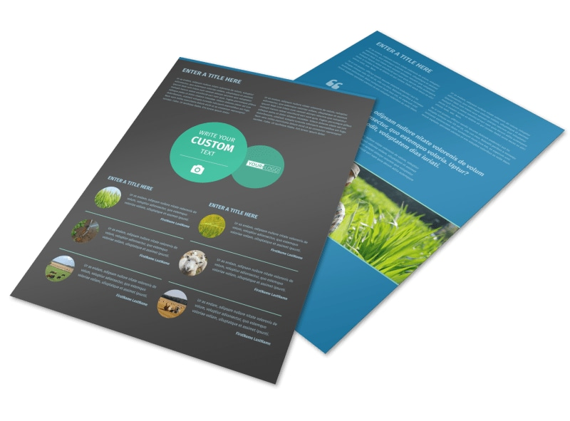 Farm Management Flyer Template