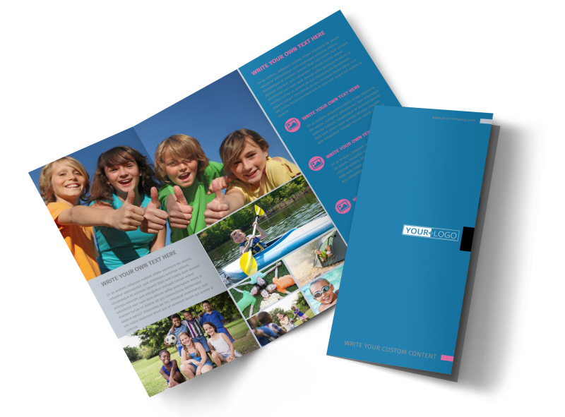camp brochure template