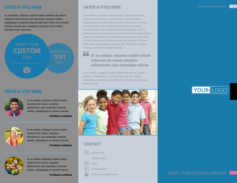 Summer Camp Brochure Template Preview 2