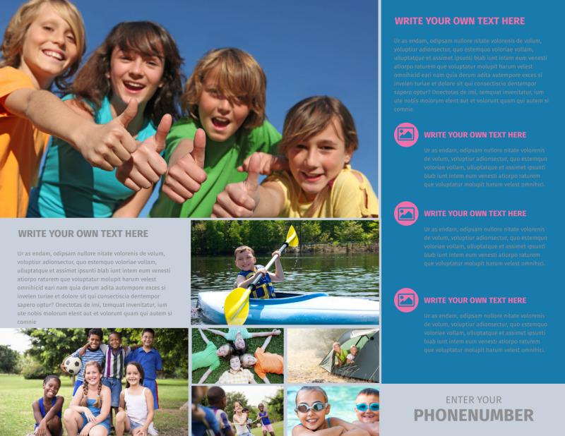 Summer Camp Brochure Template Preview 3