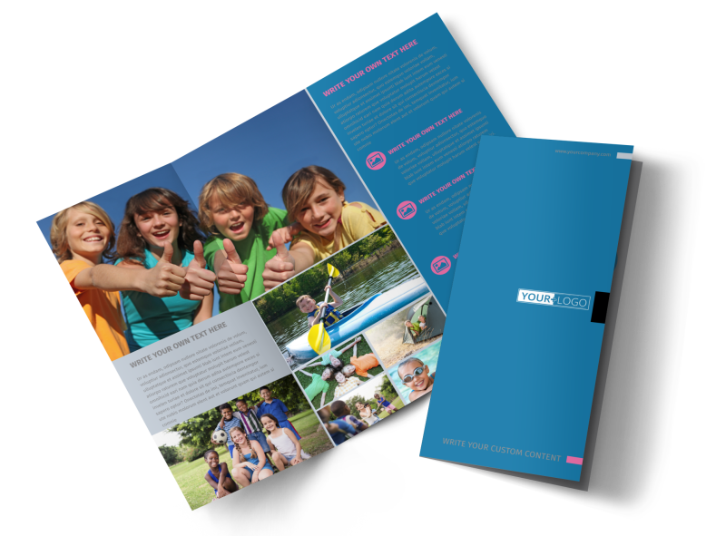 Summer Camp Brochure Template Preview 1