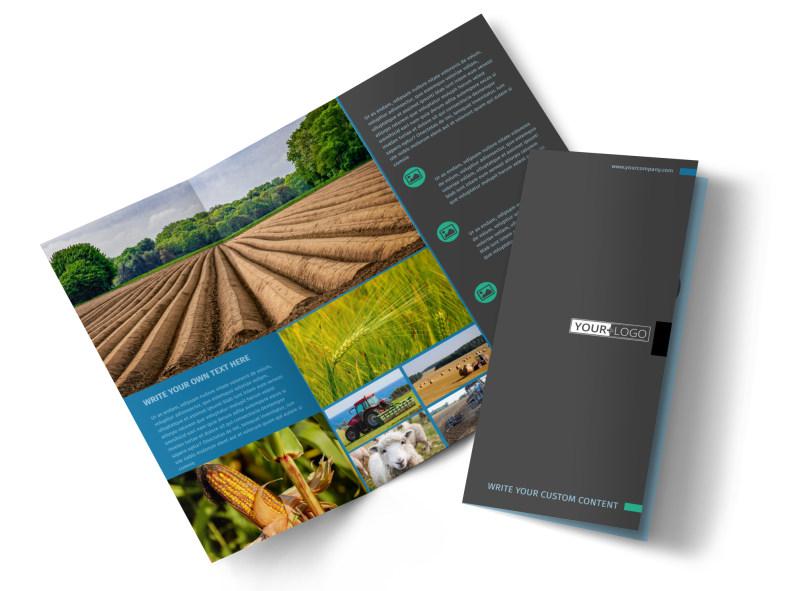 Farm Management Tri-Fold Brochure Template