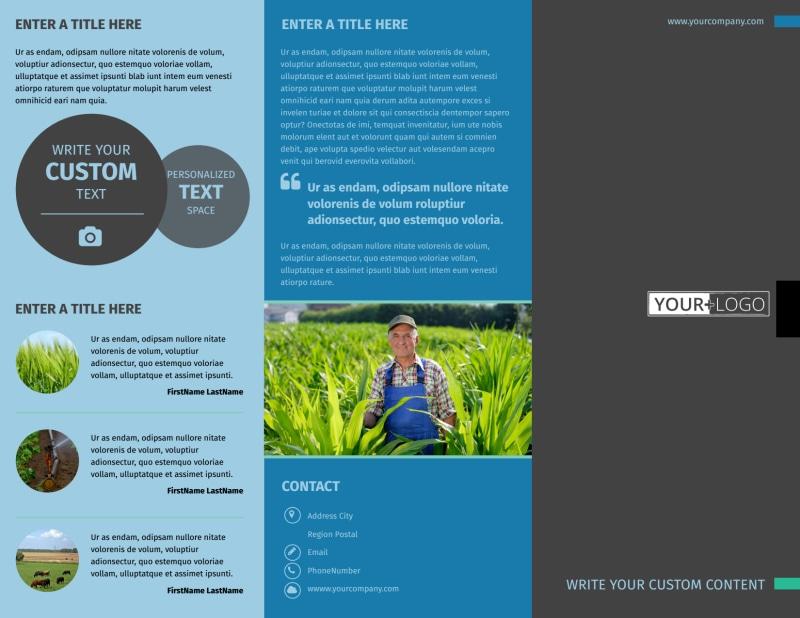 Farm Management Brochure Template Preview 2
