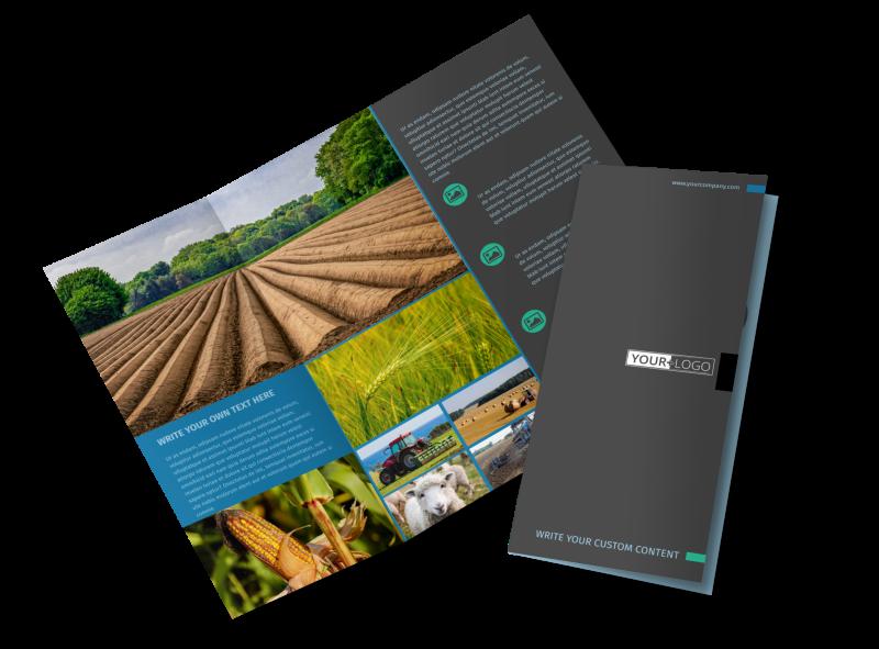 Farm Management Brochure Template Preview 1