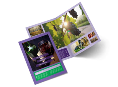 Vineyard & Winery Bi-Fold Brochure Template 2 preview