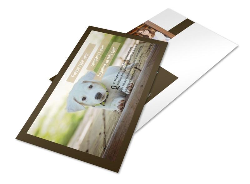 Pet Store Postcard Template 2