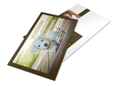 Pet Store Postcard Template 2