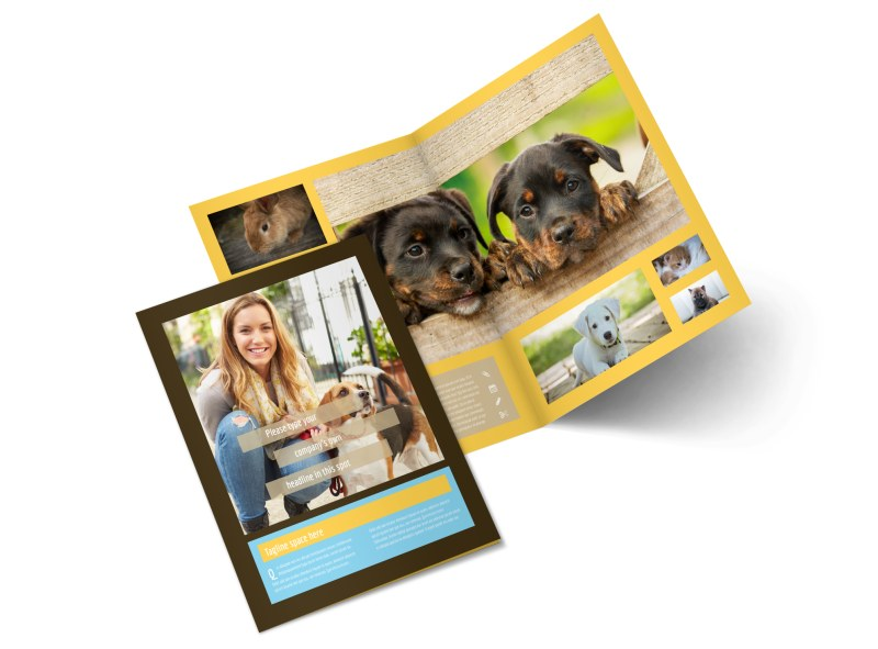 Pet Store Bi-Fold Brochure Template 2