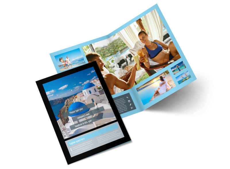 Fabulous Villa Rentals Bi-Fold Brochure Template 2