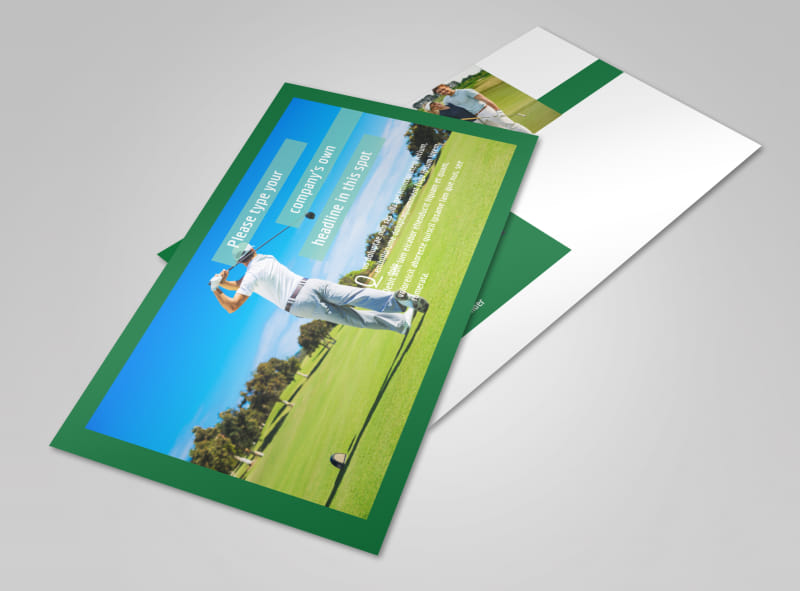 Local Golf Tournament Postcard Template 2