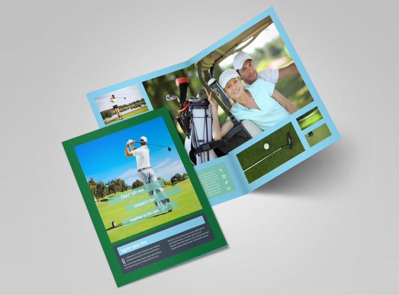 Local Golf Tournament Bi-Fold Brochure Template 2