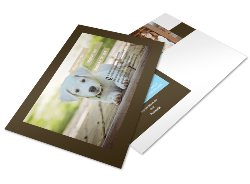 Pet Store Postcard Template Preview 4
