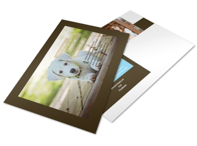 Pet Store Postcard Template preview