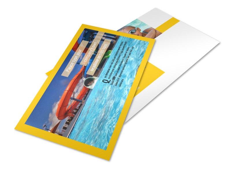 Summer Water Parks Postcard Template 2
