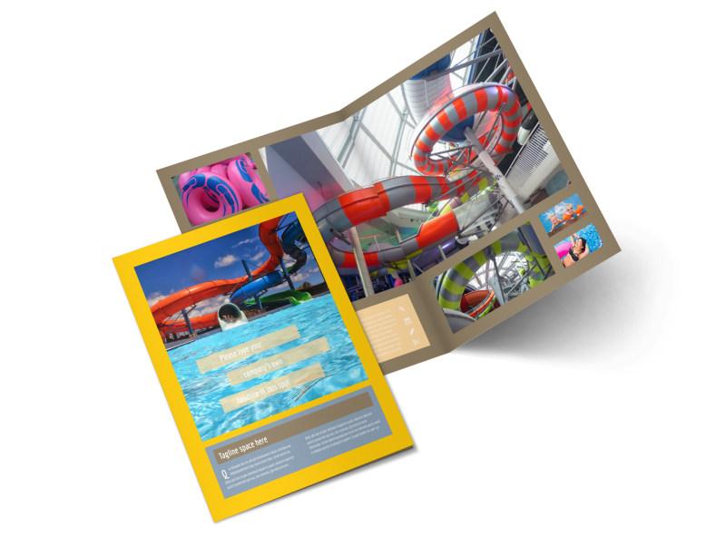 Summer Water Parks Bi-Fold Brochure Template 2
