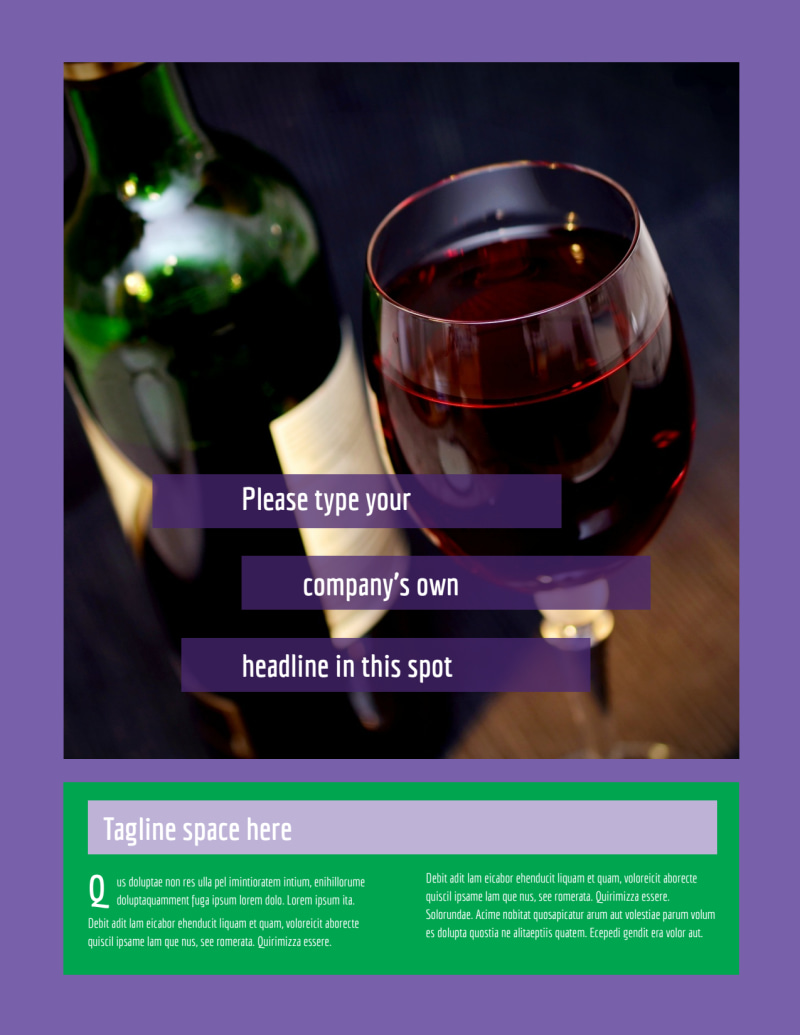 Vineyard & Winery Flyer Template Preview 2