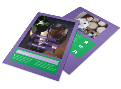 Vineyard & Winery Flyer Template preview