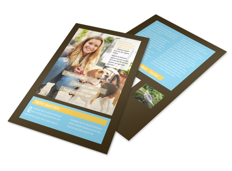 Pet Store Flyer Template 3