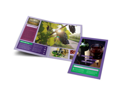 Vineyard & Winery Brochure Template preview