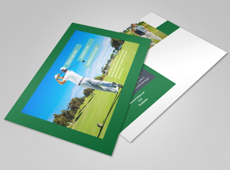 Local Golf Tournament Postcard Template