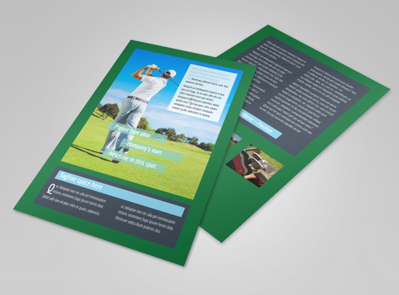 Local Golf Tournament Flyer Template 3