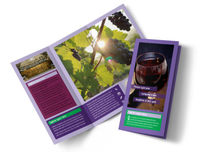 Vineyard & Winery Tri-Fold Brochure Template preview