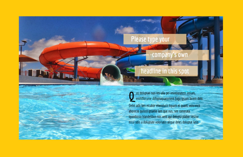 Summer Water Parks Postcard Template Preview 2