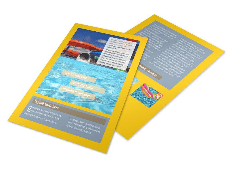 Summer Water Parks Flyer Template 3