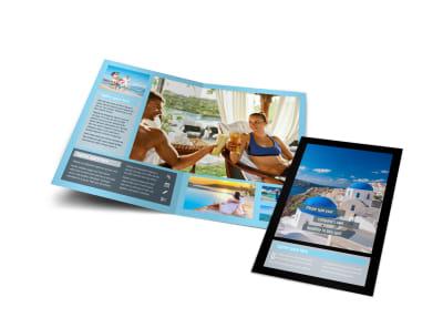 Fabulous Villa Rentals Bi-Fold Brochure Template