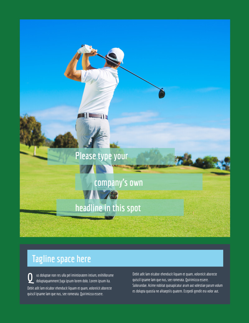 Local Golf Tournament Flyer Template Preview 2
