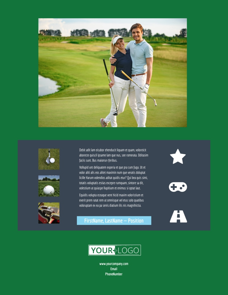 Local Golf Tournament Flyer Template Preview 3